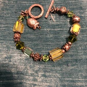 Jewelry - Green and blue tropical 🐠  bracelet and earrings